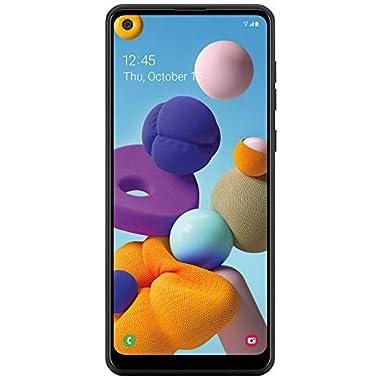 Total Wireless Samsung Galaxy A21 4G LTE Prepaid Smartphone (Locked) – Black – 32GB – Sim Card Included – CDMA