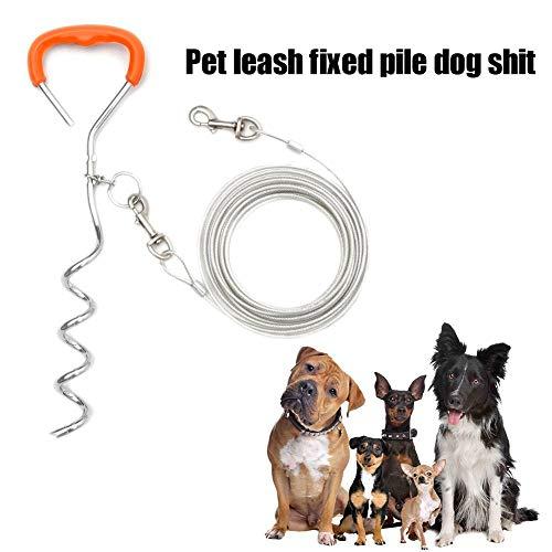IANSISI Tierbedarf Bündelung Kabel Hundehaufen Eisen verzinkt Verchromt Abschleppseil Haltegurtsystem Ankerbolzen |Kit |