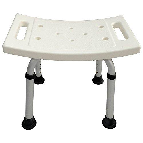 IAIZI - Silla de ducha para bañera, taburete de ducha, ligero y con asiento antideslizante, silla de ducha ajustable médica para ancianos, sin respaldo, banco de baño