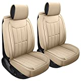 SPEED TREND Leather Car Seat Covers, Premium PU Leather & Universal Fit for...