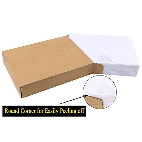Shipping Labels with Rounded Corner, 8.5 x 5.5 Inches Half Sheet Self Adhesive Shipping Address Labels for Laser and Inkjet Printer, 300 Labels Photo #3