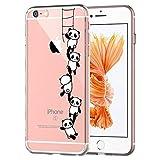 Caler–Carcasa para iPhone 6/6S, transparente, ultra delgada, de silicona suave, anti-choques,...