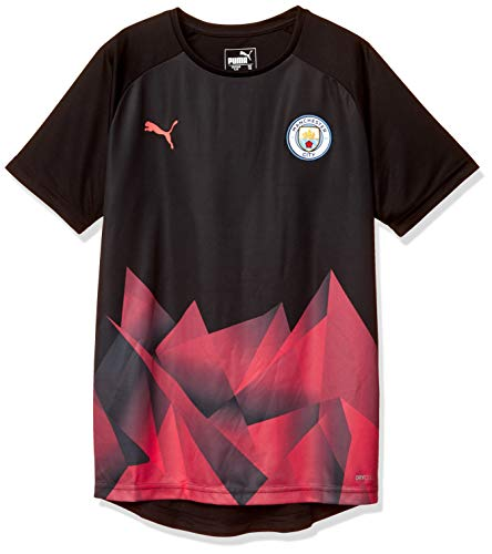 PUMA Kinder MCFC Stadium International Jersey Jr Trikot, Black/Georgia Peach, 140