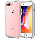 JETech Hülle Kompatibel iPhone 8 Plus & iPhone 7 Plus, Handyhülle Hülle Cover Schutzhülle mit Anti-kratzt Transparente durchsichtig & Rückseite (HD Klar)