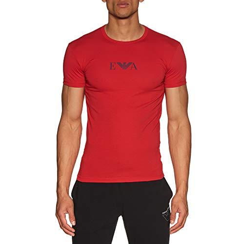 Emporio Armani Underwear Herren Multipack-Monogram T-Shirt, Rot (Rosso 00074), X-Large (Herstellergröße:XL)