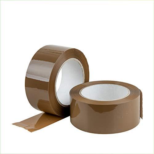 Palucart 6 pezzi rotoli nastro adesivo pacchi 50x132 svolgimento SILENZIOSO nastro da imballo colore AVANA
