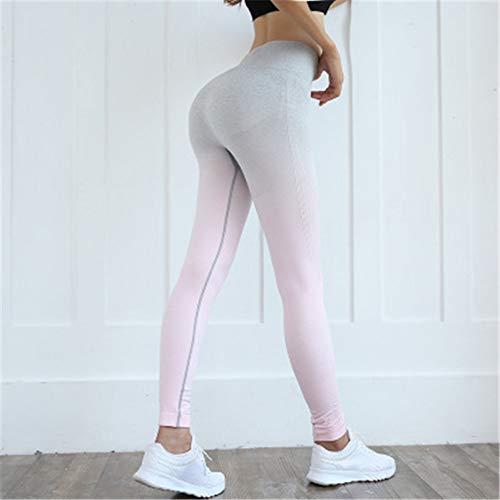 GJDHFJN Gradient Himmel Fitness Leggings Für Frauen Hohe Taille Sport Workout Dünne Leggins Polyester Legins Hosen Legging Wunsch, L