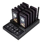 Système d'Appel sans Fil, Système D'appel sans Fil Restaurant avec 1 Base de Clavier et 10pcs Bipeurs Rechargeables pour Restaurant, Hôpital, Café, Boutique, etc. (10pcs)