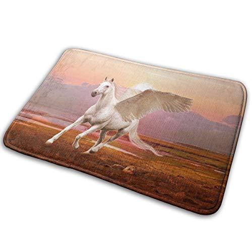 qinzuisp Pegasus Wallpapers Innenteppich Bodenteppich Schlafzimmer Duschteppich Fußmatte rutschfeste Matte Eingangsmatte Doormat 15.7