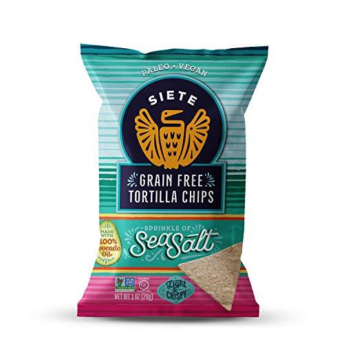 Siete Sea Salt Grain Free Tortilla Chips, 1 oz bags, 24-Pack