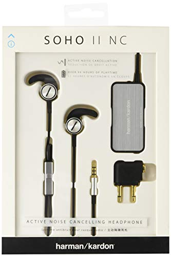 Harman Kardon Soho II Noise Cancelling Earbud Headphones (Renewed)