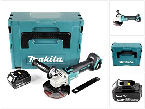 Makita DGA 504 F1J Akku Winkelschleifer 18V 125mm Brushless + 1x Akku 3,0Ah + Makpac - ohne Ladegerät