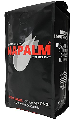 Napalm Coffee, EXTRA DARK ROAST, Whole Bean Coffee, 100% Arabica, 12 Ounce Bag
