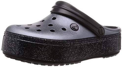 crocs Unisex-Erwachsene Crocband Platform Clog U Wassersportschuh, Metallic Black, 36 EU