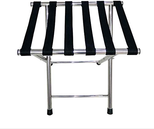 %53 OFF! QTQZDD Room Luggage Holder, Hotel Stainless Steel Folding Luggage Rack, Travel Rest Stool, ...