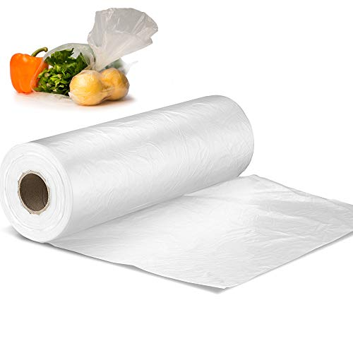 12' X 20' Plastic Produce Bag on a Roll, Bread and Grocery Clear Bag, 350 Bags - 1 Roll