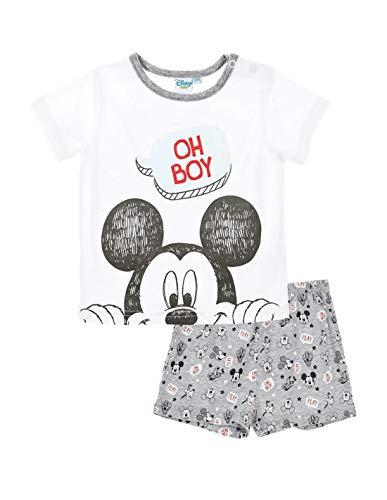 Ensemble Short et T-Shirt bébé garçon Mickey Blanc/Gris de 6 à 24mois - Blanc/Gris, 6 Mois
