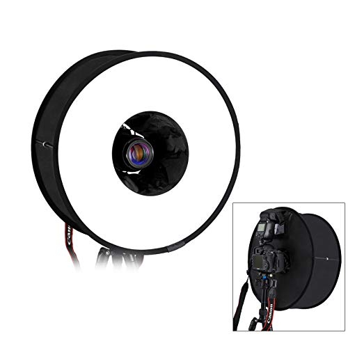 Puluz runde Blitz-Softbox, Diffusor, 45 cm, tragbarer Ring, Blitz-Diffusor, Softbox für Speedlight, Makro, Porträtaufnahmen, Fotografie, Studiolicht