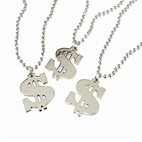 Dollar Sign Necklace (2-Packs of 12 each)