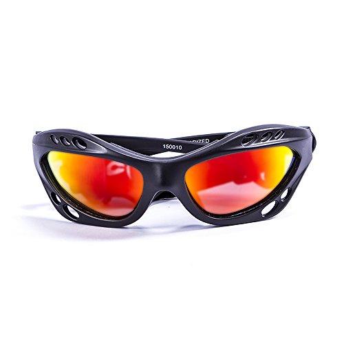 Ocean Sunglasses Cumbuco - Gafas de Sol polarizadas - Montura : Negro Mate - Lentes : Amarillo Espejo (15001.0)