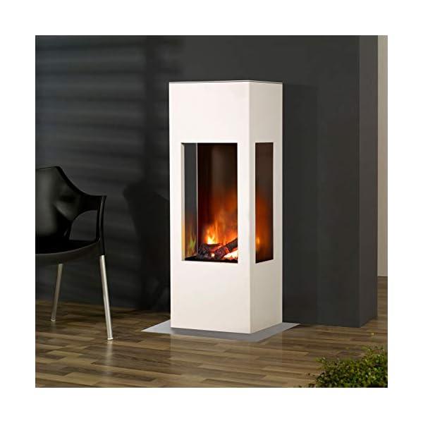 muenkel design Prism Fuego Chimenea eléctrica OPTI-myst Calor : Negro – con Calefacción