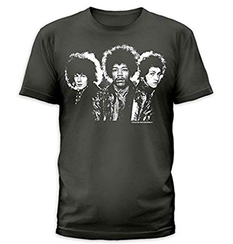 Jimi Hendrix Are You Experienced Back T Shirt Charcoal