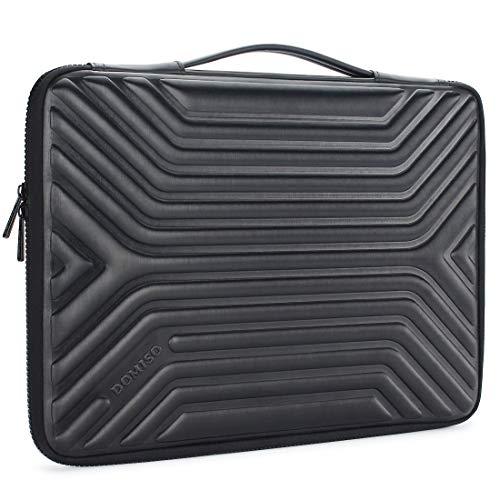 """DOMISO 17 Pouces Imperméable Anti-Choc Housse Pochette de Protection Ordinateur Portable Sacoche pour 17-17.3"""" Notebook/Dell/Lenovo/Acer/HP/MSI/ASUS, Noir"""