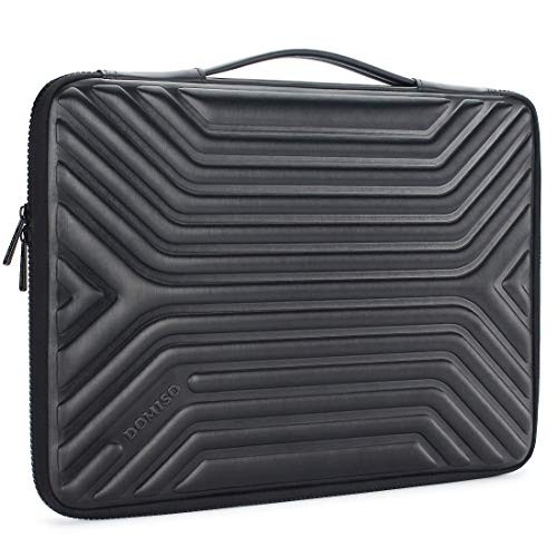 DOMISO 17 Inch Shockproof Waterproof Laptop Sleeve with Handle Lightweight Soft EVA Tablet Protective Case Bag for 17-17.3' Notebook/Dell/Lenovo/Acer/HP/MSI/ASUS, Black
