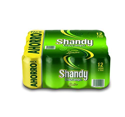 Shandy Cruzcampo Cerveza Limón - Paquete de 12 x 330 ml - Total: 3960 ml