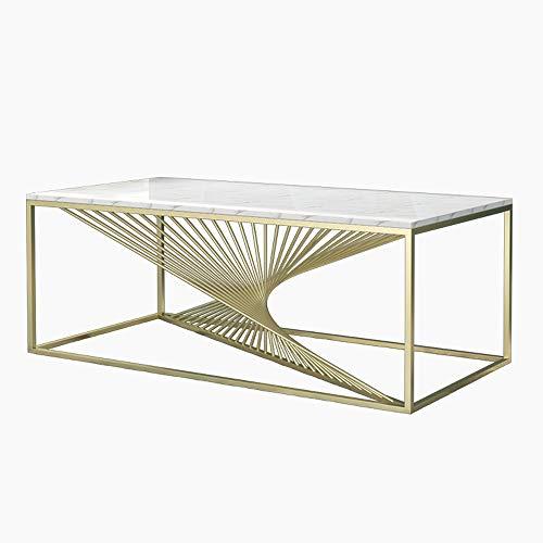 ZSAIMD Piernas Diseño Marco de muebles robustos Industrial Metal Espiral del café vector de la vendimia Sofá Tabla Mesa de cóctel Inicio muebles de sala, mesa de centro con almacenamiento de estanterí