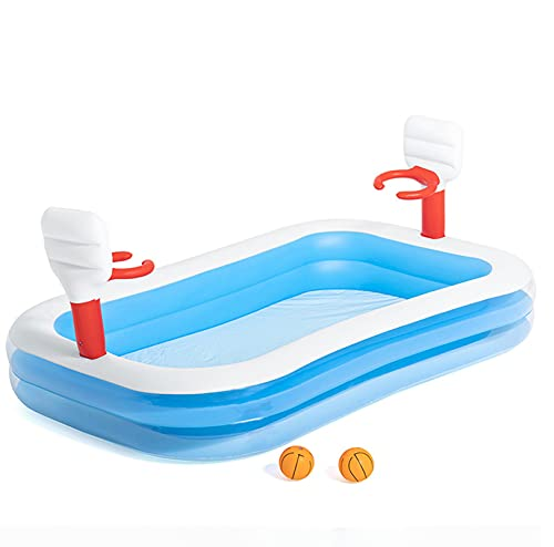 LQ-MAOZI sobre el Suelo Piscina, Agua Abierta Grande Flotador de natación con aro de Baloncesto Jardín Inflable Splash Pad Sprinkler PVC Diversión Salida de césped al Aire Libre Juguete,A