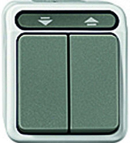 Merten MEG3755-8029 1polig Rollladentaster, 1-polig, lichtgrau, AQUASTAR