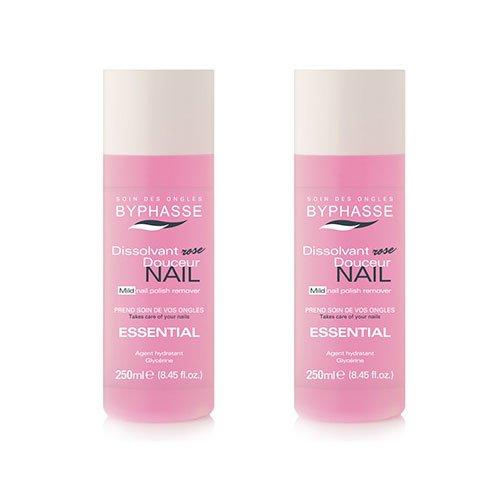 Byphasse LOT DE 2 - Dissolvant essential - 250 ml - Tous types d'ongles