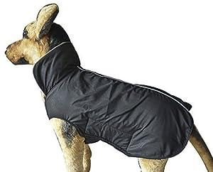 Vivi Bear - Veste d'hiver rembourrée, imperméable et antistatique pour chiens en polaire - Veste de sécurité - XS à XXXL - Noir