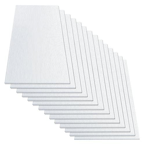 10,25 m² Hohlkammerplatte 4,5 mm - 14x Stegplatten 60,5 x 121 cm - Doppelstegplatten aus Polycarbonat - Hohlkammerplatten für Gewächshaus & Modellbau - witterungsbeständig & lichtdurchlässig