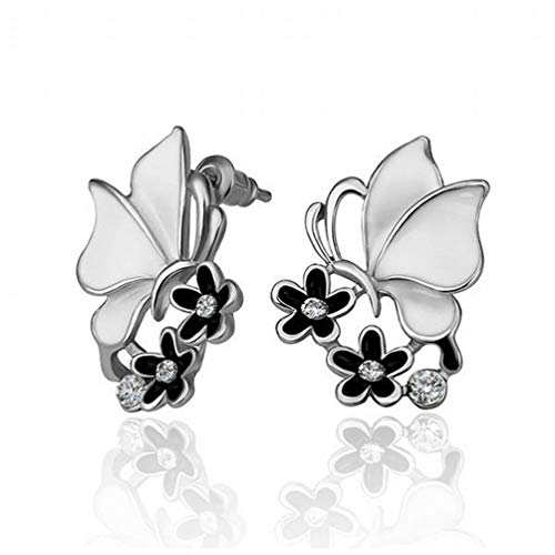 A Pair of Environmentally Friendly Gold Fashion Animal Drilling Stud Earrings/Stainless Steel/Anti-allergy/Silver Flashing/Diamonds/Small and Exquisite,Colour:C Bracelets Earrings Rings Neck