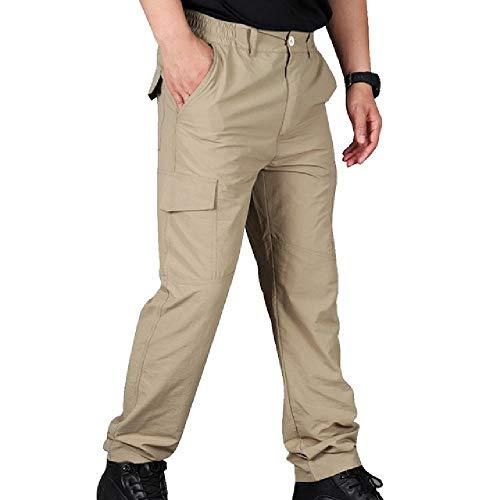 U/A - Pantalones cargo para hombre, multibolsillos, para hombre, pantalones de carga, para hombre Verde caqui XL