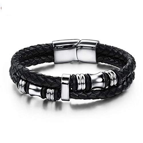 Herren Damen Vintage Leder Handgelenk Armband, Infinity Armband, Paar Freundschaftsarmband, DREI Längen sind optional,20.5cm
