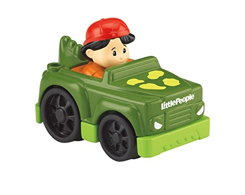 Mattel Fisher Price Little People Auto Dino grün