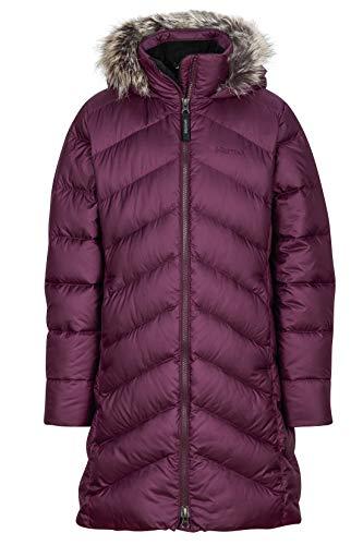 Marmot Mädchen Daunenmantel Montreaux, Mädchen, Montreaux Coat, dunkelviolett, X-Small