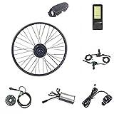 SKYWPOJU Kit de conversión de Bicicleta eléctrica Rueda de Motor Frontal 16-29 Pulgadas 700C Rueda 36V 48V 500W con LCD8H Mini Pantalla Ebike Kit (Color : 48V, Size : 29')