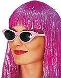 Smiffy's-99022 Años 50 Gafas de Sol Rock and Roll Estilo Flyaway, con Strass, Color Rosado, No es Applicable (99022)