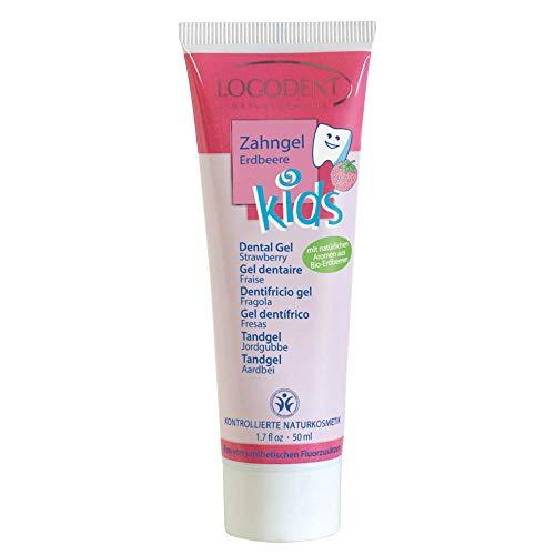 Logona Dentifrice Enfant Sans Fluor Goût Fraise 50ml Bio - Tube 50ml