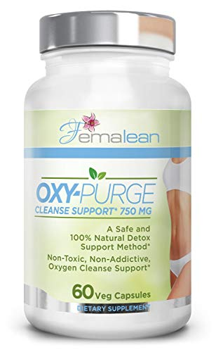 Oxy-Purge 750 mg 60 Vcaps - Natural Magnesium Oxide | Gentle Laxative | Healthy Digestive Tract | Regularity Formula | Oxygen Based Colon Cleanse