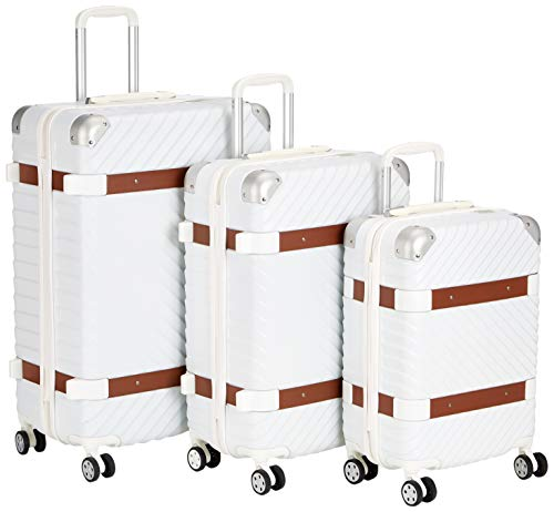 F 23 3-tlg. Hartschalen Trolley-Set, TSA-Schloss, 70 + 60 + 50 cm, ABS, Milano, Weiß, 77070-1