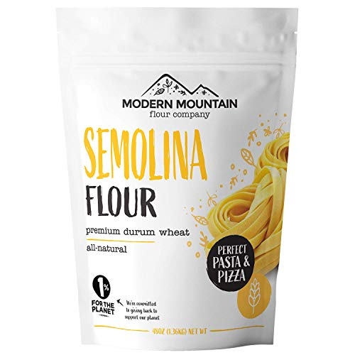 Semolina Flour (3 lb) Flour for Pasta, Pizza, and Bread, Milled from Premium Durum Wheat, High Gluten, Rich in Protein, All-Natural, OU Kosher Certified