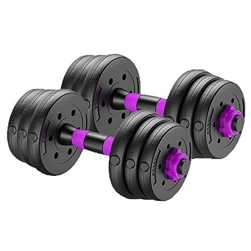 Fitness-Hantel-Set, verstellbares Gewicht bis zu 40 kg, Heim-Fitnessgerät für Männer und Frauen, Fitnessstudio, Training, mit Verbindungsstange, verwendet als Langhanteln (Paar), Ein Paar, 30 kg
