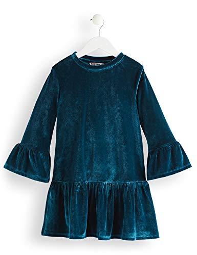 Amazon-Marke: RED WAGON Mädchen Kleid Velvet, Blau (Teal), 104, Label:4 Years