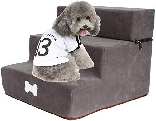 Haustierbett Haustiertreppe, 11.8x13.7x11.8in abnehmbarer dreistöckiger Treppenhaus, Hundestufenleiter, 3-stufige Hund Rampe Sofa-Bettleiter, 3-Lagen-abnehmbares Treppen-Design, für Hund-Katze kleine