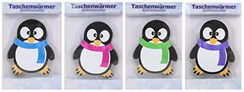 Pullach Hof 4 scaldamani in Diversi Motivi a Scelta in Design Pinguino, Motivo Invernale, omini di Pan di Zenzero, Borsa dell'Acqua Calda, unicorni, Pupazzi di Neve, Riccio, Cuori, Pinguine